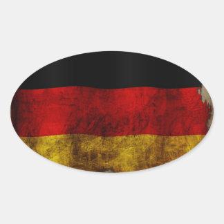 German Flag - Vintage Oval Sticker