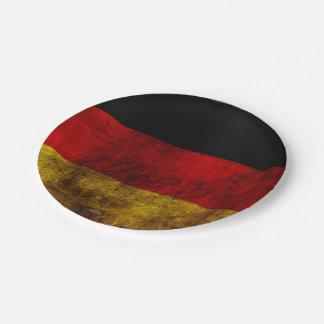 German Flag - Vintage Paper Plate