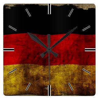 German Flag - Vintage Square Wall Clock