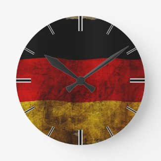 German Flag - Vintage Wallclock