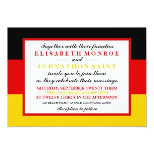 German wedding cards greeting photo cards zazzle german flag wedding card stopboris Image collections