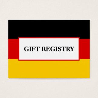 German Flag Wedding Gift Registry Business Card