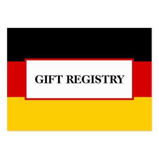 german flag wedding gift registry large business card zazzle. Black Bedroom Furniture Sets. Home Design Ideas