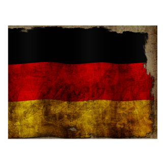 German flag - wine vintage postcard