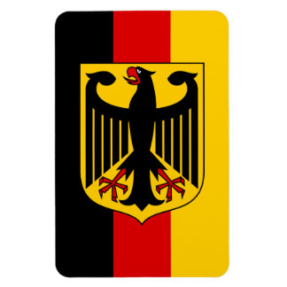 German Flag with Crest Magnet