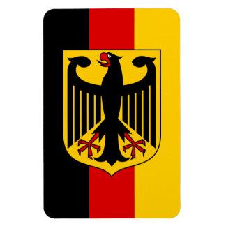 German Flag with Crest Magnet