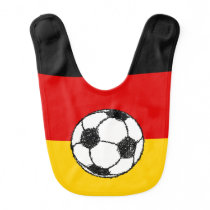 German Flag with Football Baby Bib
