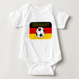 German Flag with Football Baby Bodysuit