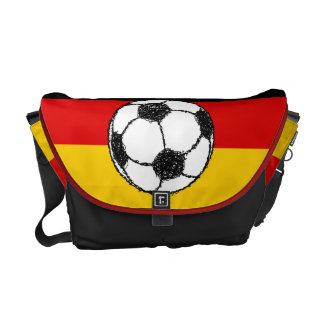 German Flag with Football Courier Bag
