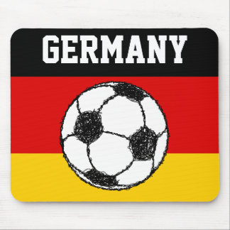 German Flag with Football Mouse Pad
