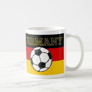 German Flag with Football Mug