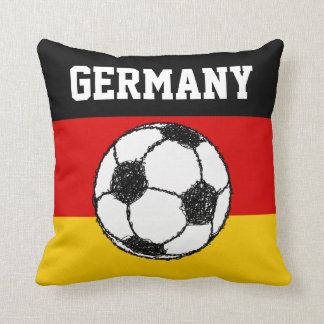 German Flag with Football Pillow