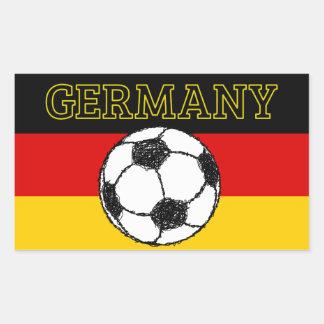 German Flag with Football Rectangular Sticker