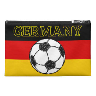 German Flag with Football Travel Accessory Bag