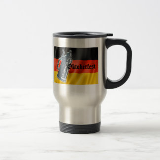 German Flag with Oktoberfest and Pewter Beer Stein