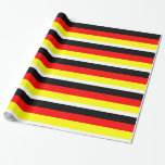 German Flag Wrapping Paper