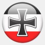 German Flag WWI Round Sticker
