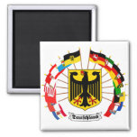 German Flags Pinwheel 2 Inch Square Magnet