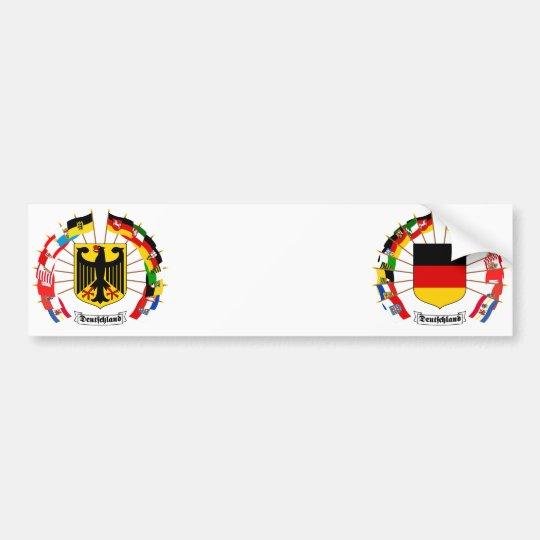 German Flags Pinwheel Bumper Sticker