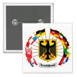 German Flags Pinwheel Button