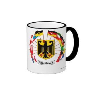 German Flags Pinwheel Ringer Mug