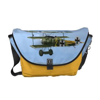 German Fokker DR1 Fighter Plane Messenger Bag