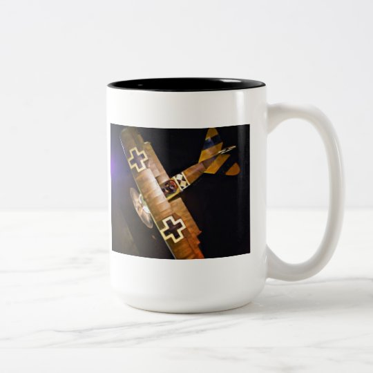 German Fokker Triplane Two-Tone Coffee Mug