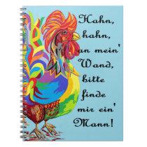 German Folklore Roosters and Husbands auf  Deutsch Notebook