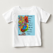 German Folklore Roosters and Husbands Baby T-Shirt
