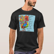 German Folklore Roosters and Husbands T-Shirt