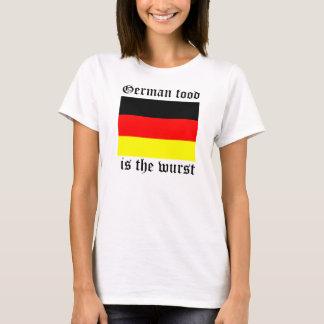 German food is the Wurst Womens Tee