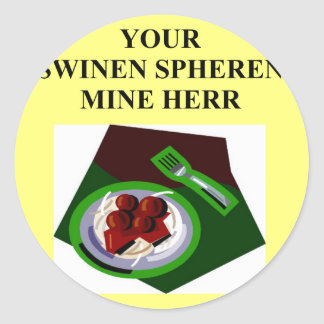 german food joke sticker