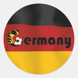 German Football Flag Round Stickers