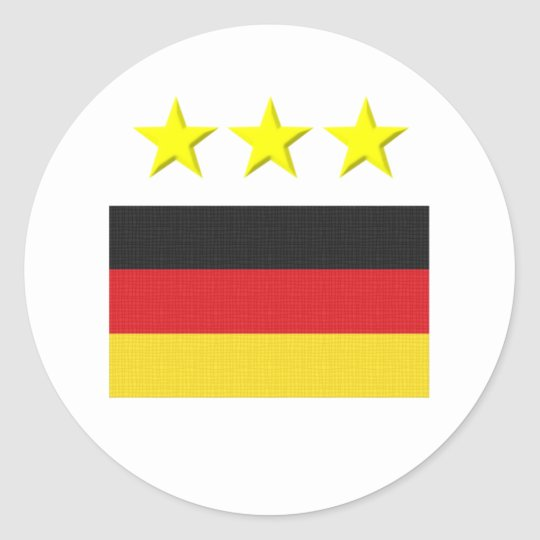 German Footie Classic Round Sticker