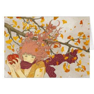 German for Autumn Card