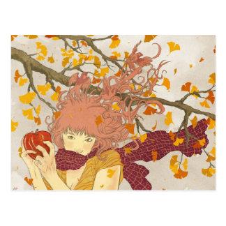 German for Autumn Postcard
