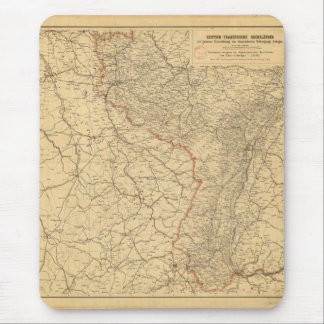 German-French Border Countries by G Lang Metz 1887 Mouse Pad