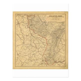 German-French Border Countries by G Lang Metz 1887 Postcard