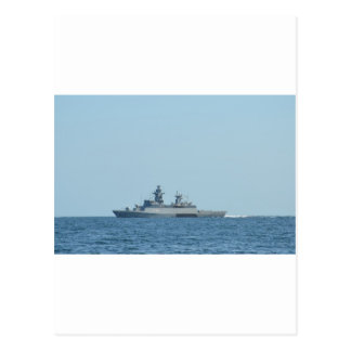 German frigate Braunschweig at sea. Postcard