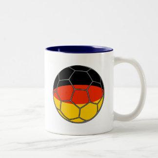 German Futball  Flag Two-Tone Coffee Mug