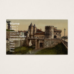 German Gate, Metz, Alsace Lorraine, Germany vintag Business Card
