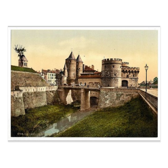 German Gate, Metz, Alsace Lorraine, Germany vintag Postcard