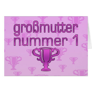 German Gifts for Grandmothers: Großmutter Nummer 1 Card