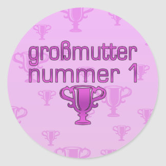 German Gifts for Grandmothers: Großmutter Nummer 1 Classic Round Sticker