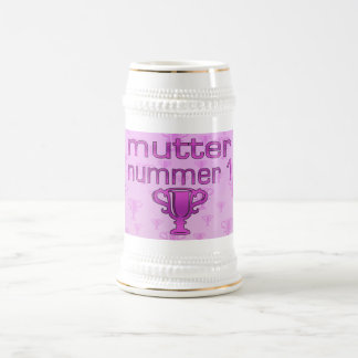 German Gifts for Moms: Mutter Nummer 1 18 Oz Beer Stein