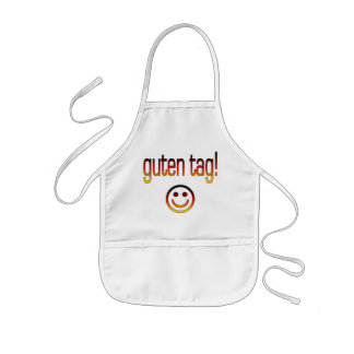 German Gifts : Hello / Guten Tag + Smiley Face Kids' Apron