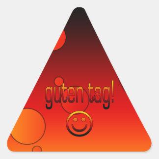 German Gifts : Hello / Guten Tag + Smiley Face Sticker