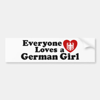 German Girl Bumper Sticker