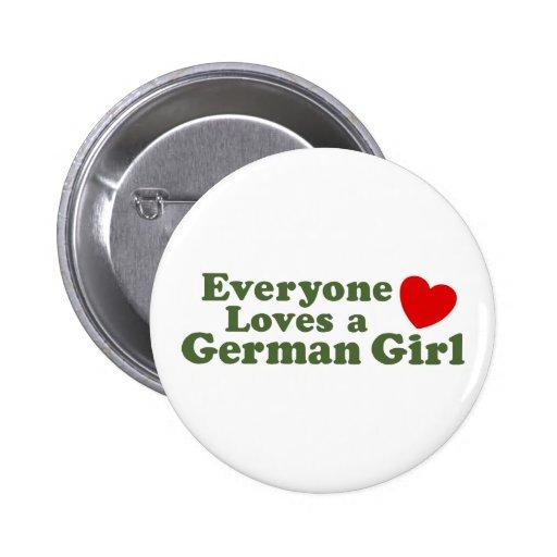 German Girl Buttons