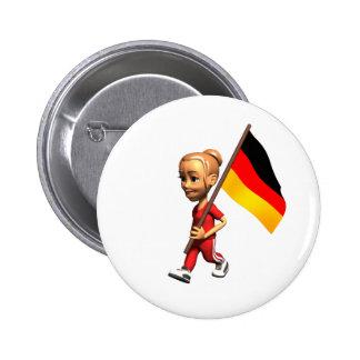 German Girl Button